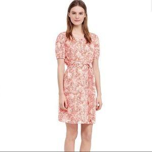 Tory Burch Emmarentia Melon Printed Dress Sz 12